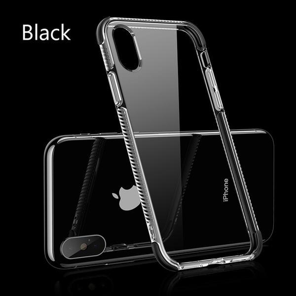 60eb48a5f3 ... Luxury Slim Clear 2 in 1 Soft Silicone TPU +TPE Shockproof Phone Case  for iPhone ...