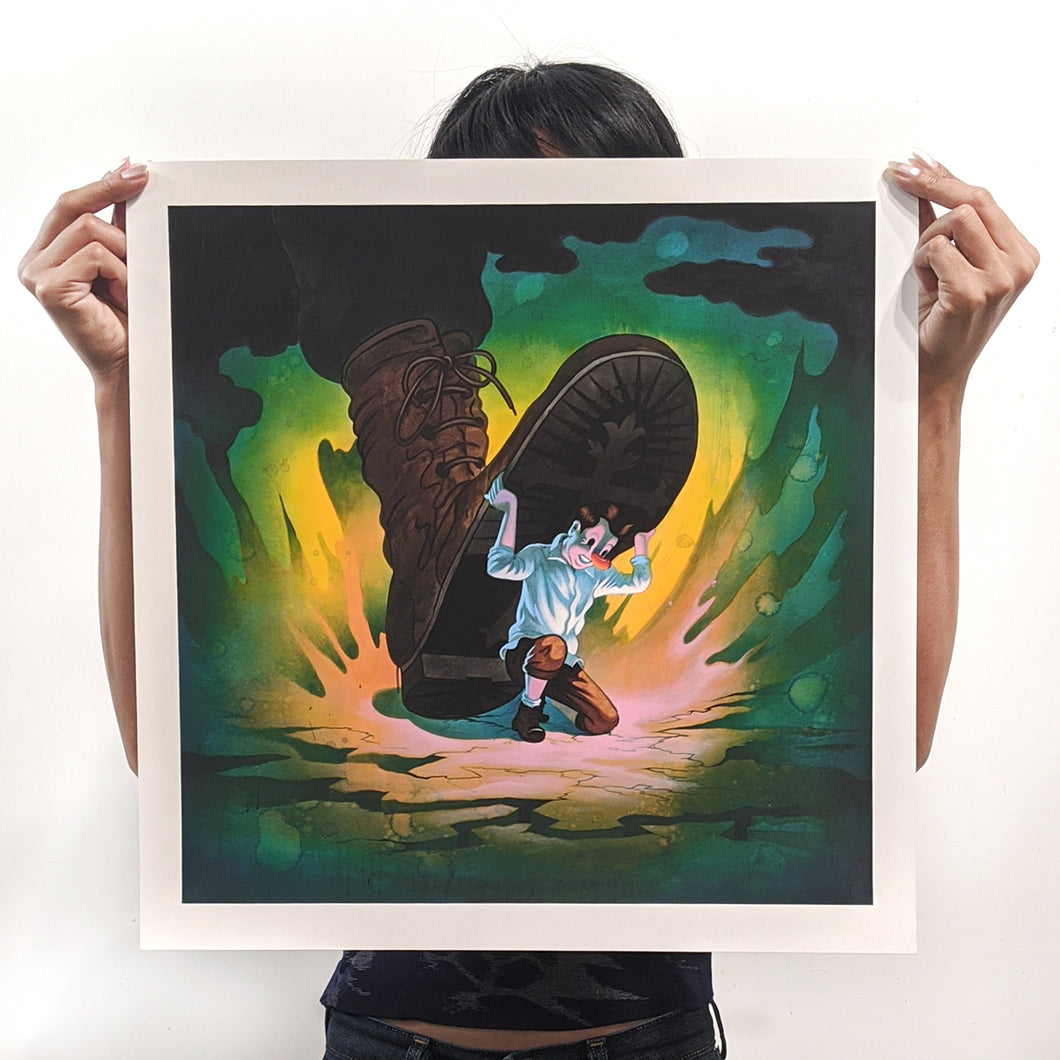 Born in 73 signed print - Small
