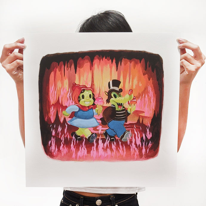 Fire Walkers signed print - Small