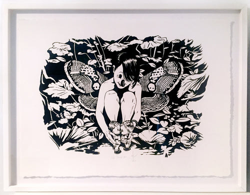 Original artwork on paper framed - She Loves You