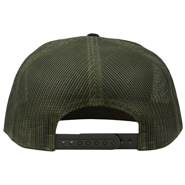 Hat - 7 Panel - Camo with Red Patch