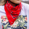 Handup Bandanna - This cycling bandana is ready for mountain biking or gravel riding. Cover your neck in a Cycling specific bandanna - braaap paisley