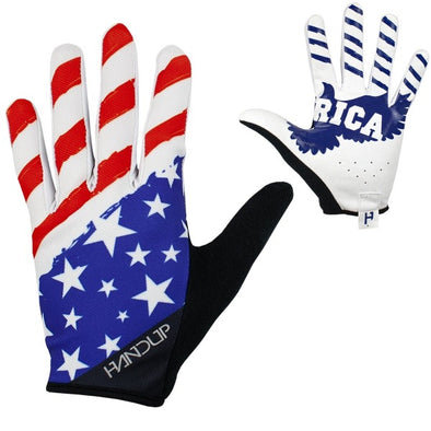Mountain Bike Glove - best mountain bike glove - top 10 mountain bike glove - bike gloves - cycling gloves - mtb gloves - cheap mtb gloves - mountain bike gloves on sale - cheap cycling gloves - cycling gloves with palms - black cycling gloves - lightning bolt gloves - send it gloves - american flag cycling gloves - usa gloves - 'merica gloves - Gloves that say America on the palms