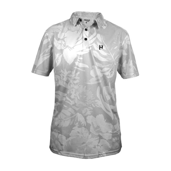 Golf Polo - Grey Floral