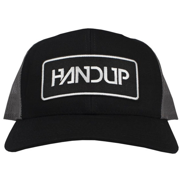 Handup Patch hat - black trucker hat