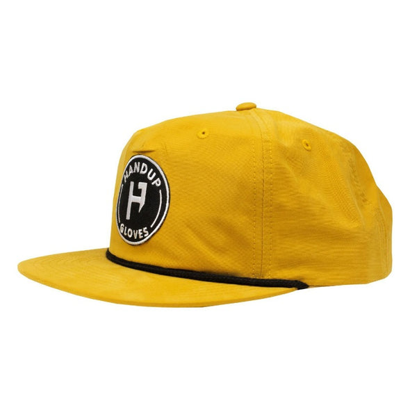 Hat - Nylon Snapback - Lager with Black Circle Patch