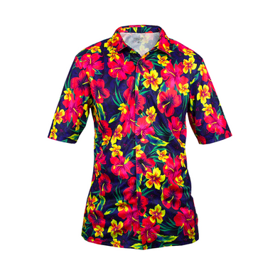 Hawaiian button up shirt - mtb jersey - hawaiian mtb jersey - hawaiian shirt mountain bike jersey