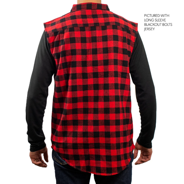 Zip Up Vest - Red Flannel