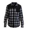 FlexTop Flannel - Navy & White