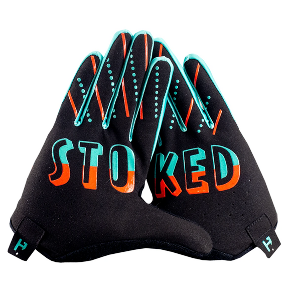 A new edition of our Poncho Serape Glove - The Handup Serape Mountain Bike gloves have been around and these are here to bring some wild west designs to the trail. The palms keep you stoked on riding your mountain bike