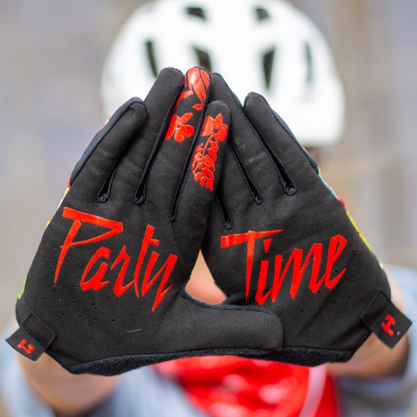 Gloves - Red Floral