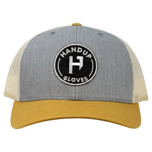 Hat - Trucker - Khaki with Black Circle Patch