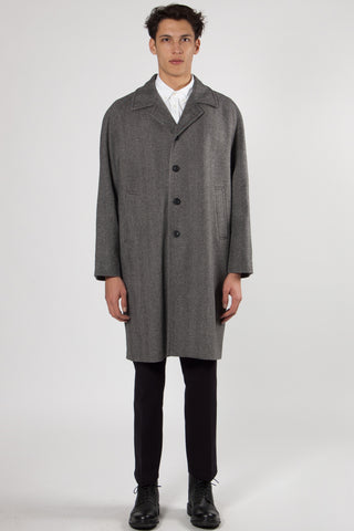 Alexandre Oversized Coat slate grey