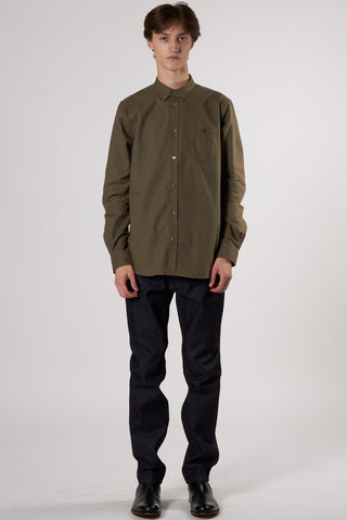 Anton Brushed Flannel Shirt beech green
