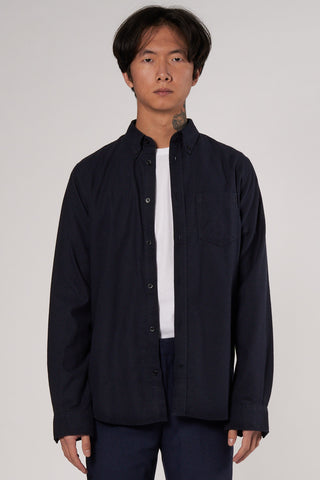 Anton Brushed Flannel dark navy