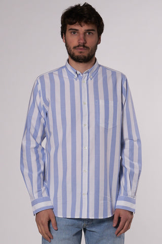Anton Oxford pale blue wide stripe