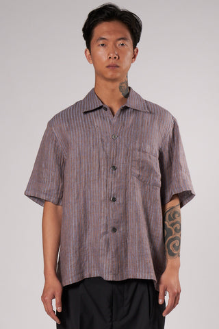 Box Shortsleeve linen stripe