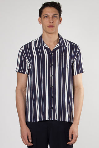 Cave Shirt off white/evening blue