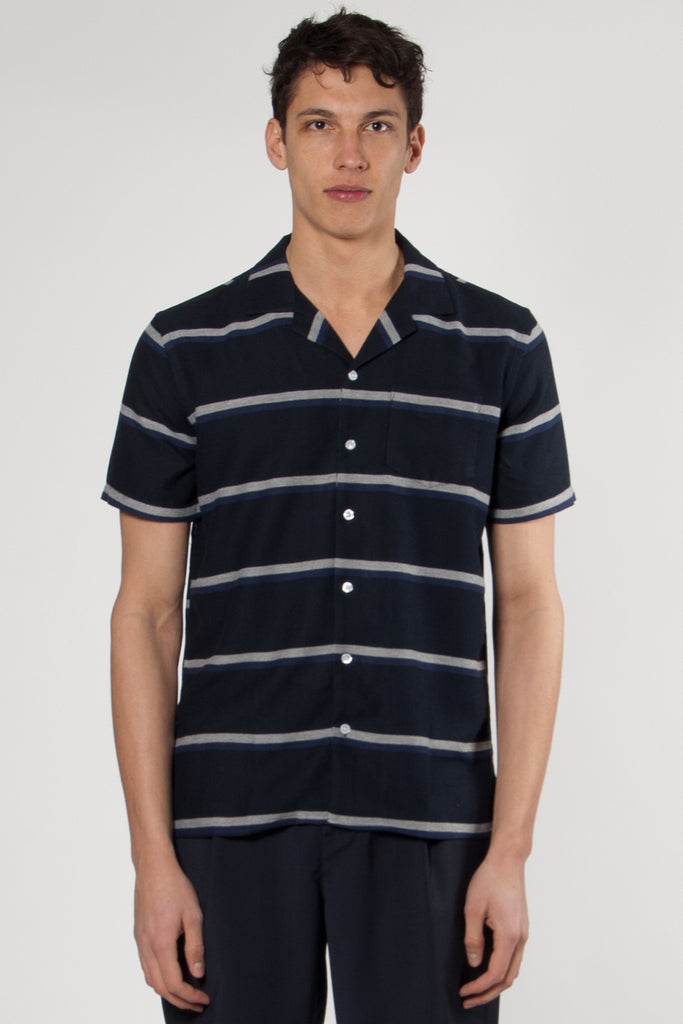 Cave Shirt navy stripe