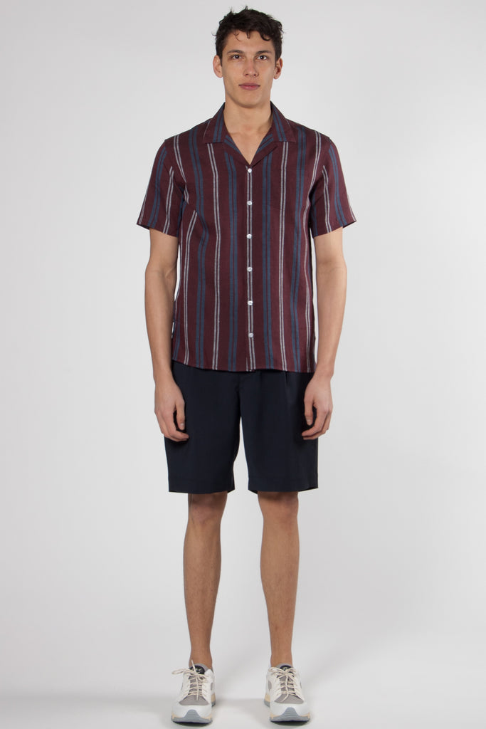 Cave Shirt wine stripe