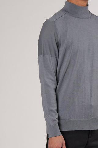 Civil Sweater Høj Hals silver bullet grey