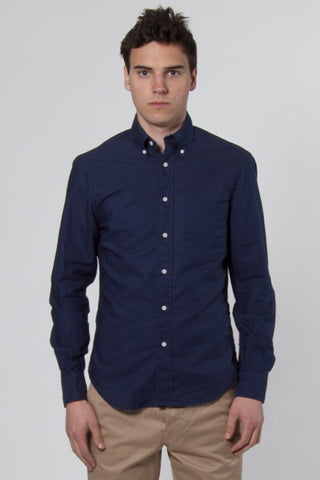 Overdyed Oxford Shirt navy