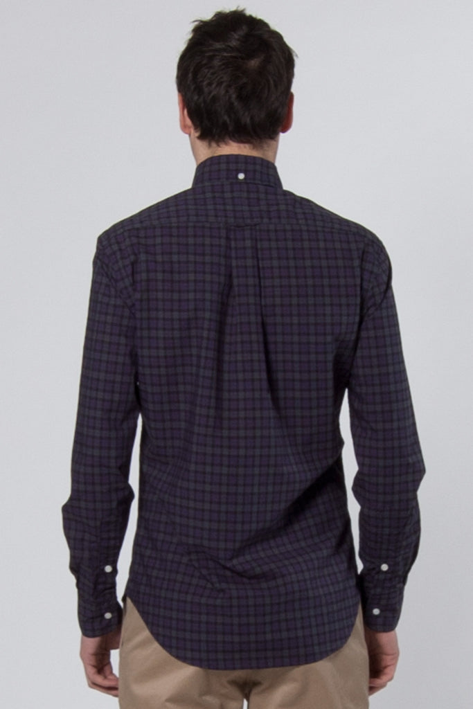 Classic Plaid Shirt blue, green & grey