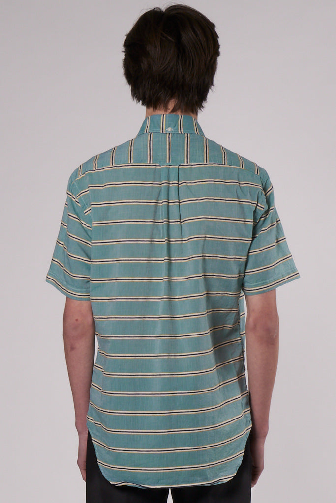 Classic Short Sleeve Shirt terry cloth stripes
