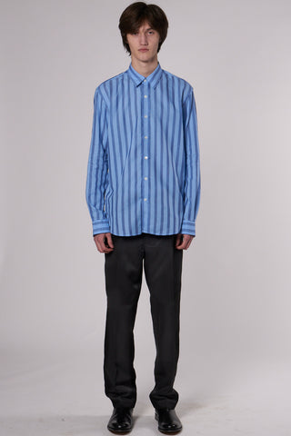 Dan Shirt blue & blue striped