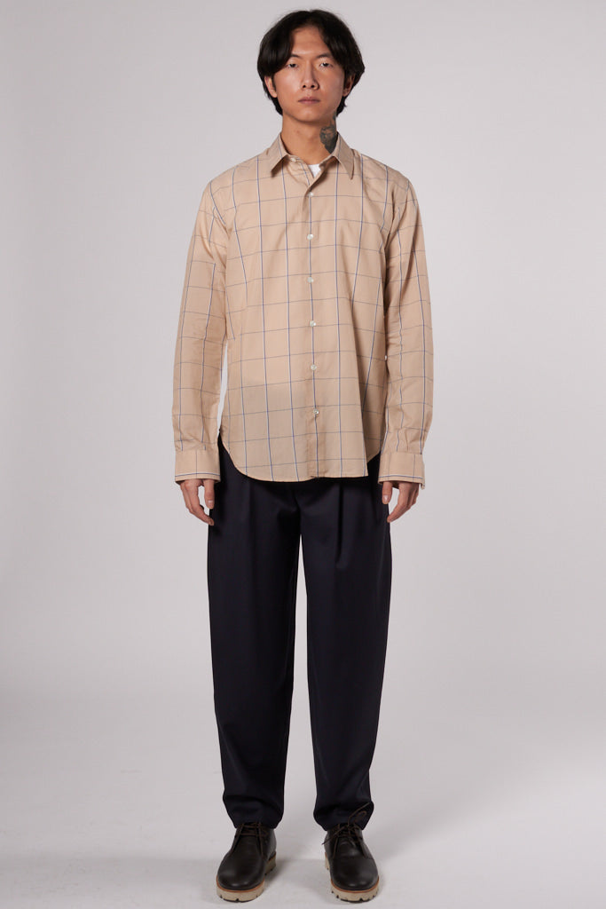 Dan Shirt brown check col. 210