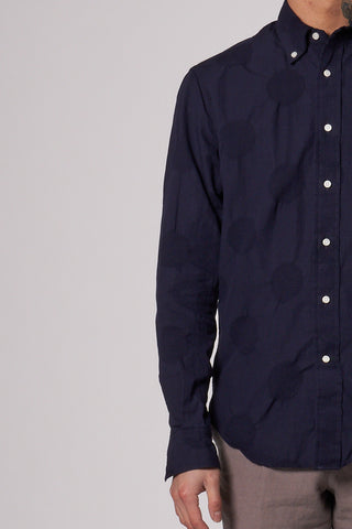 Dobby Dot Shirt dark navy