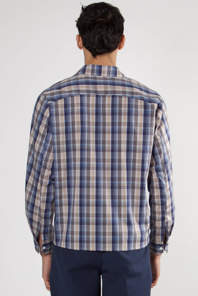 Dylan Shirt navy-beige check