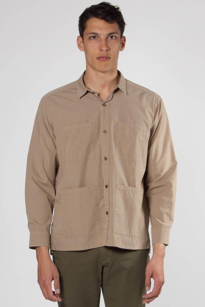 Elmer Light Cotton Shirt dark sand