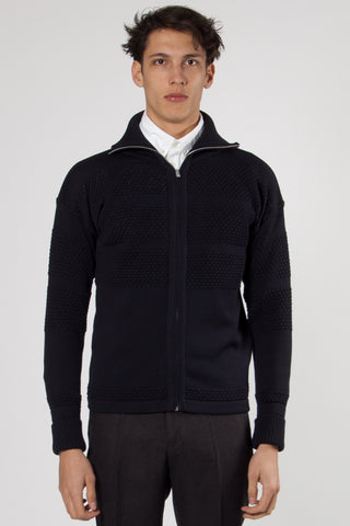 Fisherman Full Zip Jacket navy blue