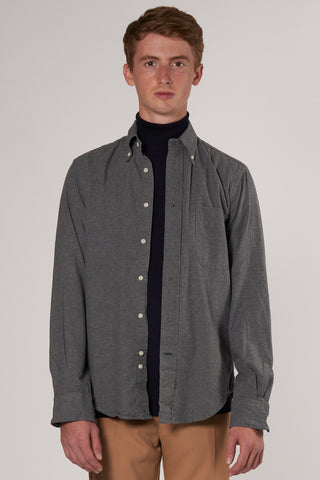 Classic Button Down Flannel Shirt grey