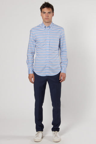 Forte Italian Oxford Stripe Shirt