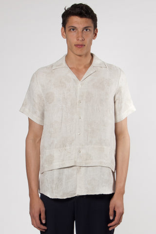 Hunter Echino Open Collar Shirt sand
