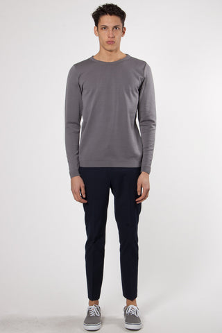 Imitation Crew Neck imitation grey