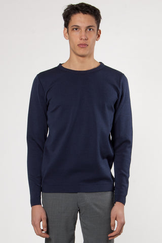 Imitation Crew Neck real blue