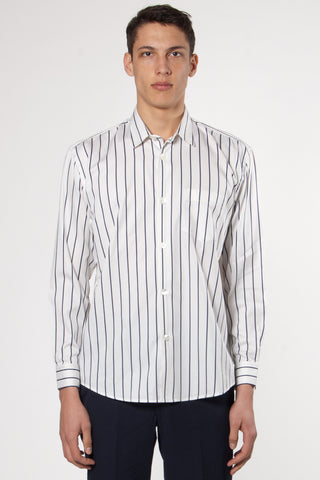 Initial Shirt Big Blue/White Stripe
