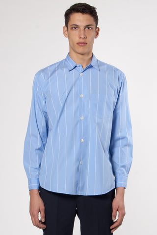 Initial Shirt Double Deck Blue Stripe