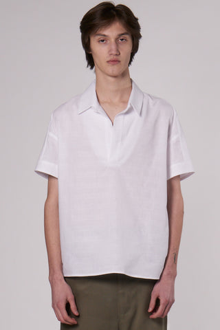 Jim Polo Shirt white linen