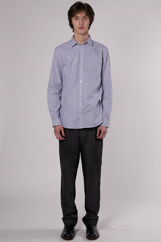 Lynch Shirt white & blue check