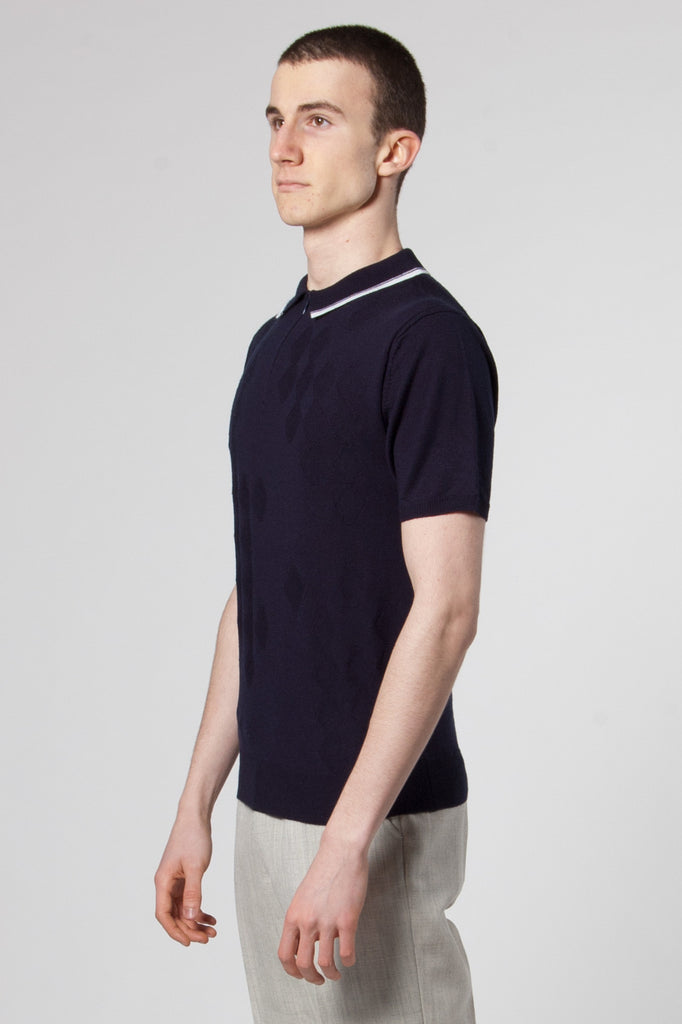 Martin Knit Polo dark navy