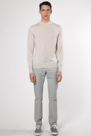 Mockneck Knit Jumper off white
