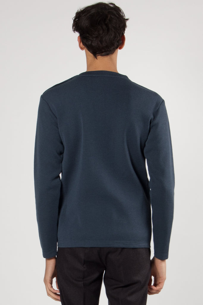 Naval Crew Neck architect blue