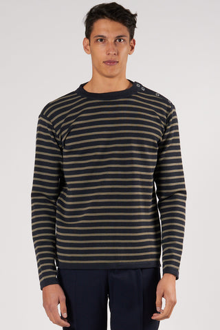 Naval Crew Neck mental blue/rope