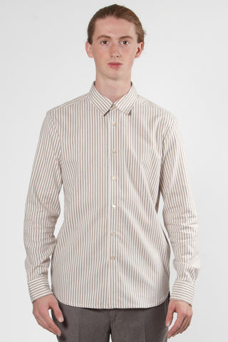 Ochiba Shirt brown stripes