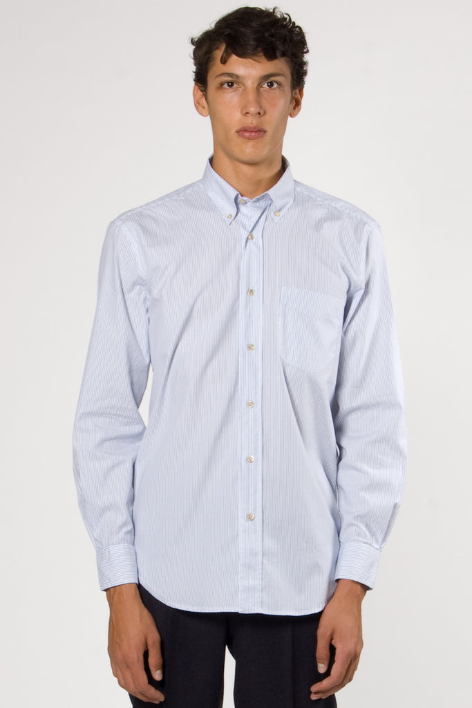 Original Button Down White Stripe Oxford
