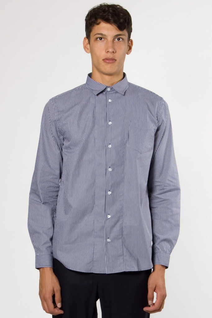 Passenger Steel Shirt navy stripe